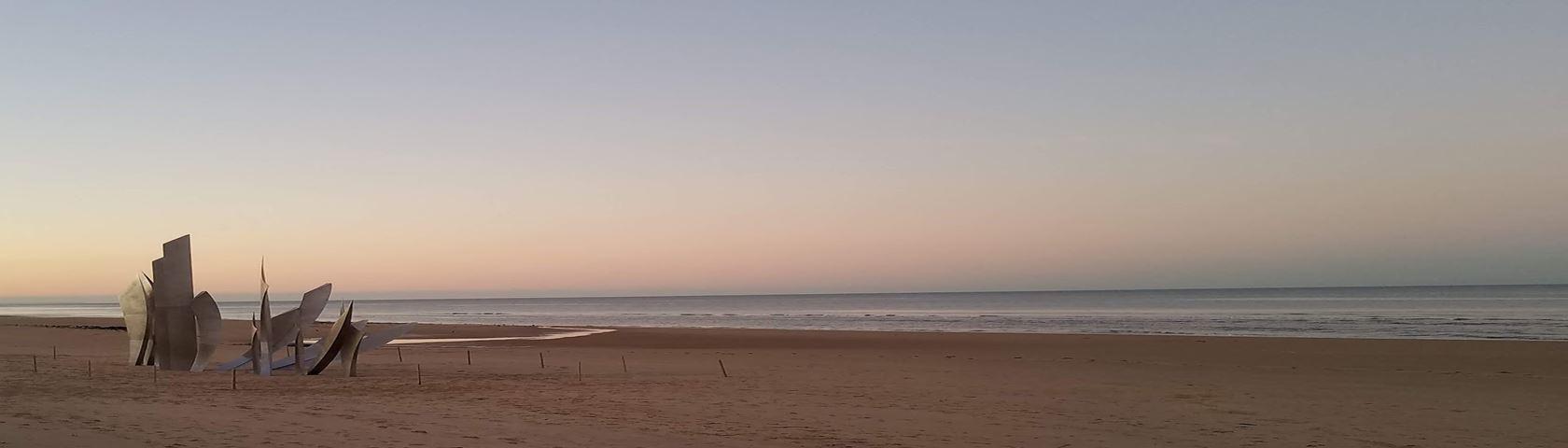 Sunset on Omaha Beach