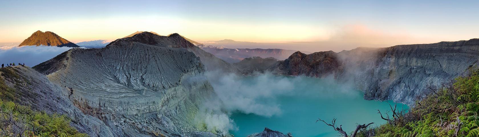 Kawah Ijen Crater on Java Island