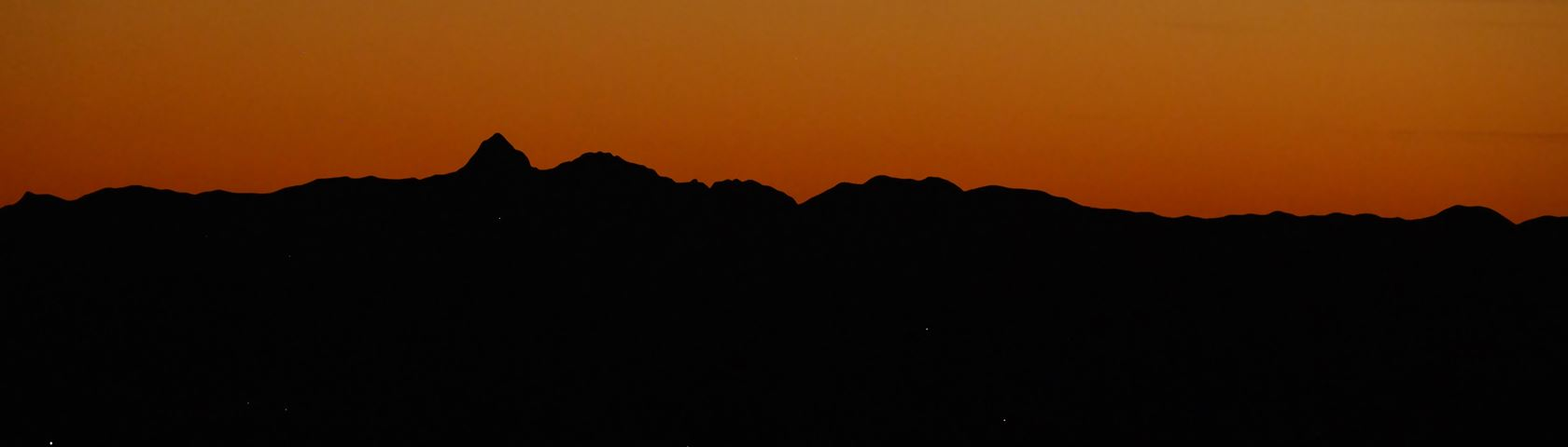 Sunset and City lights