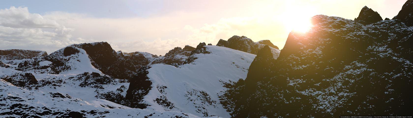 Montanhas com Neve