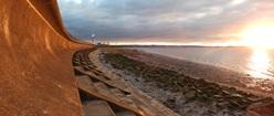 Sea Defence Wall at Severn Beach