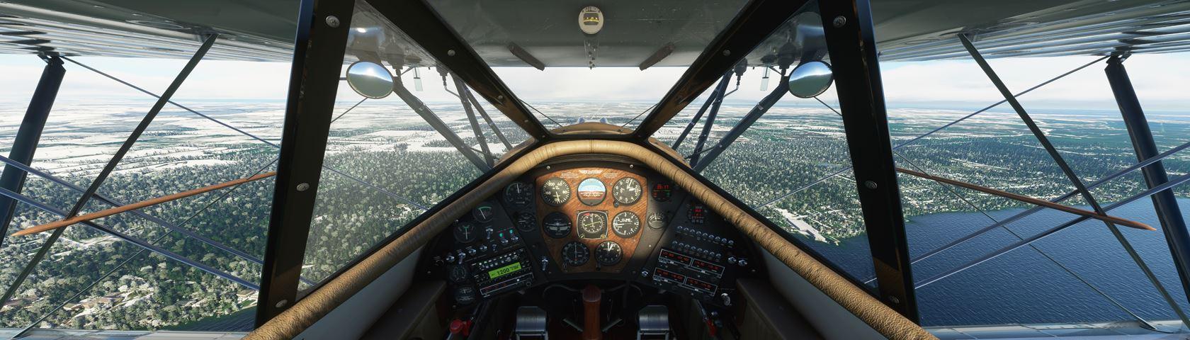 FS2020 WACO YMF-5 cockpit