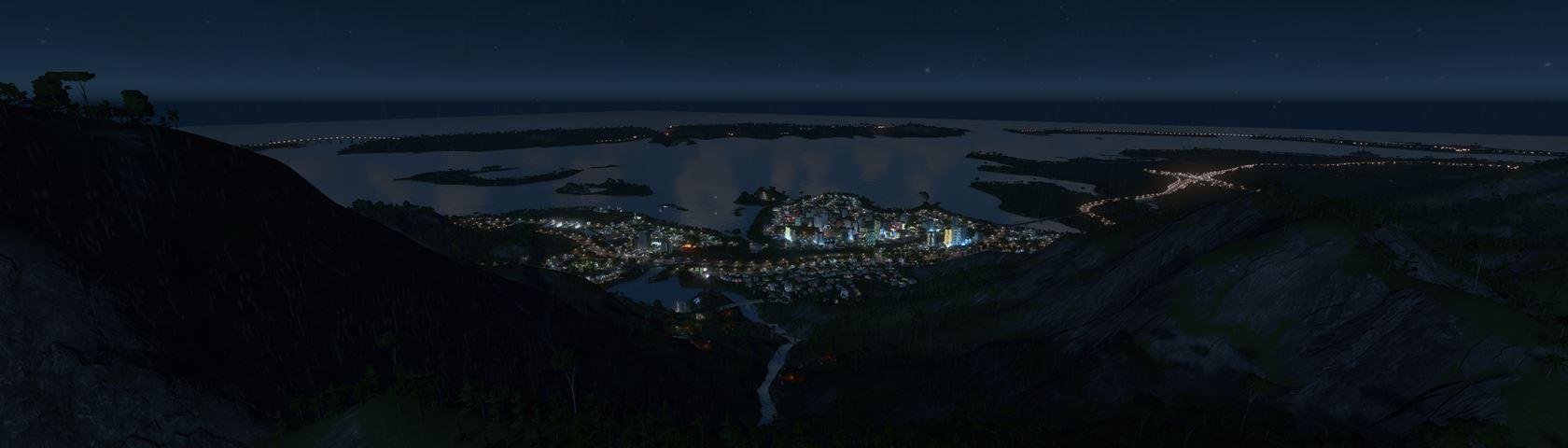 City Skylines by Night