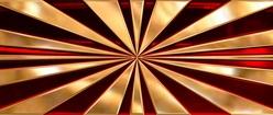 Golden Japanese Rising Sun