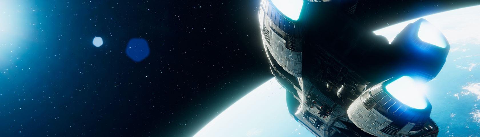 Galactica Over Caprica