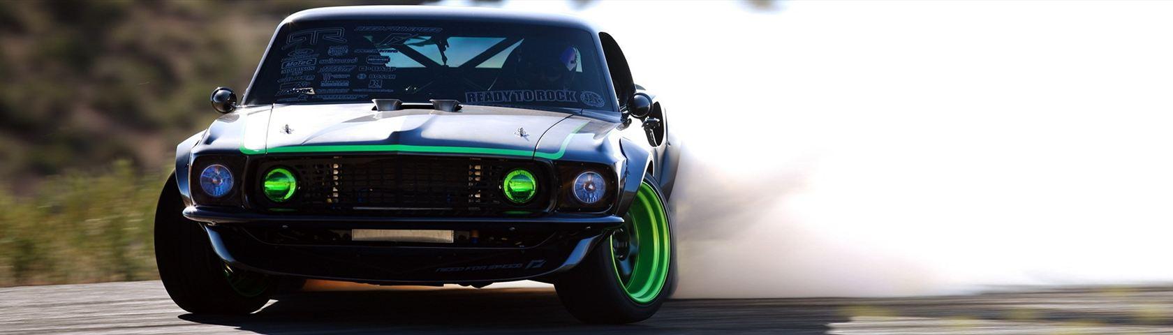 Drifting Mustang