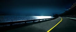 Coastal Road at Night