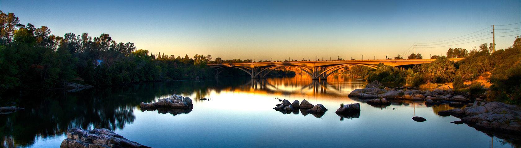 Bridge over Deep Blue Water