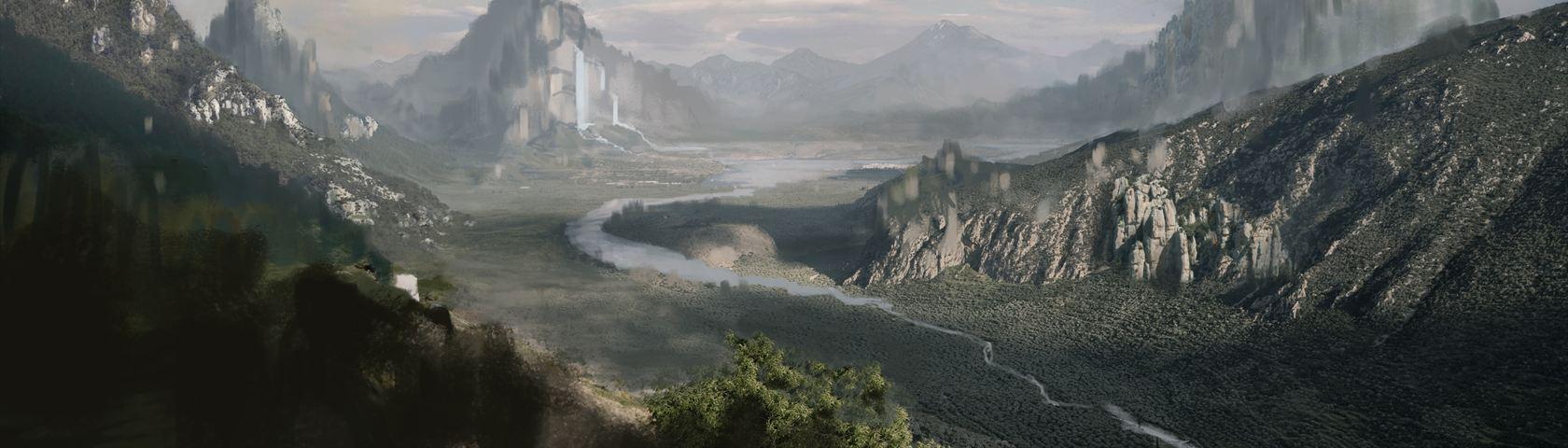 River Through a Valley