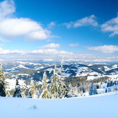 Snowy Mountain View Images Wallpaperfusion By Binary
