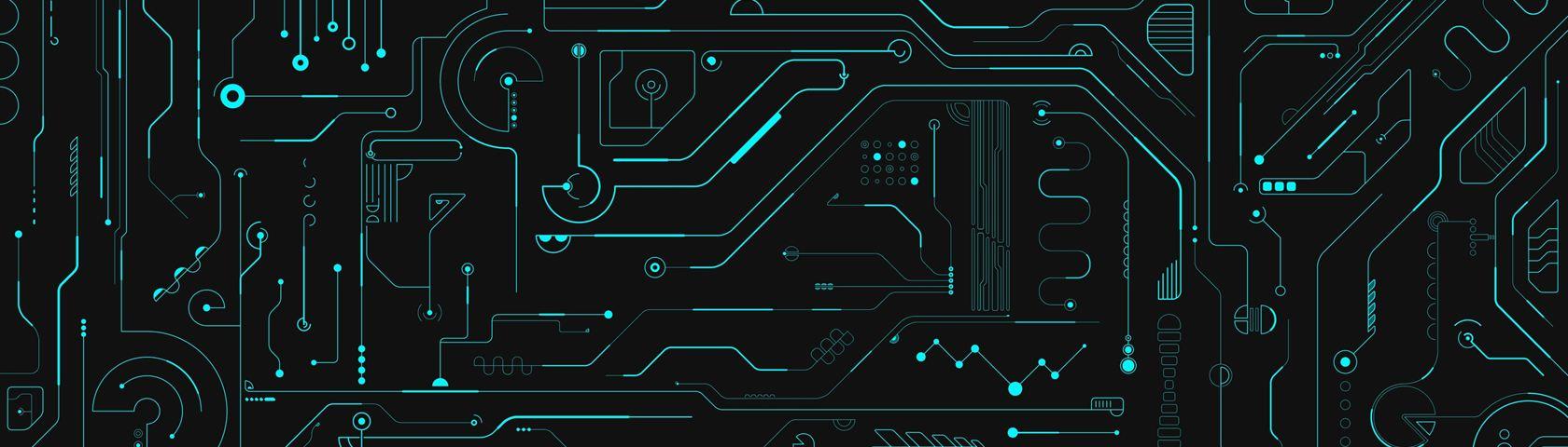 Minimalistic Computer-esque Pattern