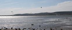 Kite Surfing in the Distance