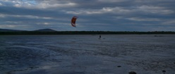 Cloudy Day and a Kite Surfer