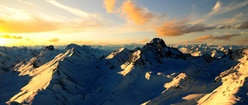 Sunlit Mountaintops