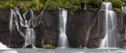 Water Cascading over the Rocks