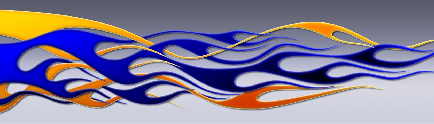 Flames - Multi Color Weave
