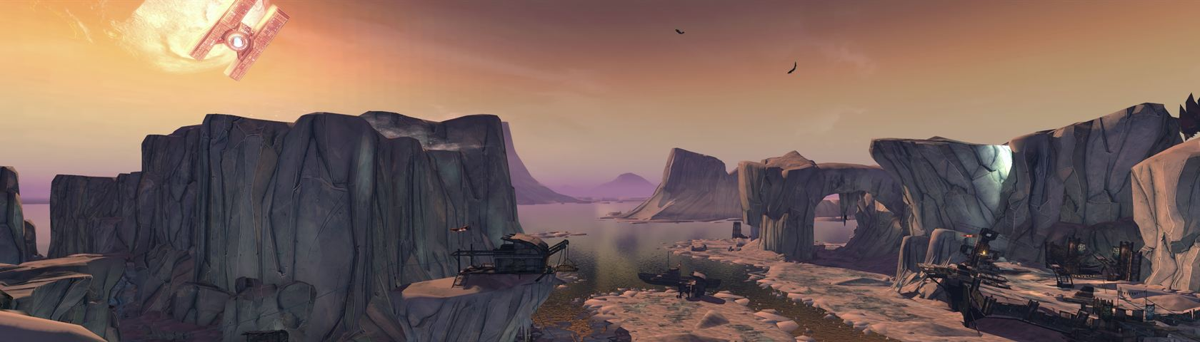Borderlands 2 Sunset Images Wallpaperfusion By Binary Fortress