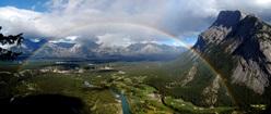 Rainbow at Mount Rundle