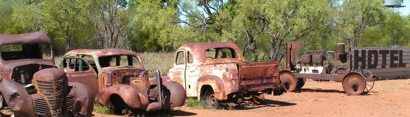 Old Broken Cars