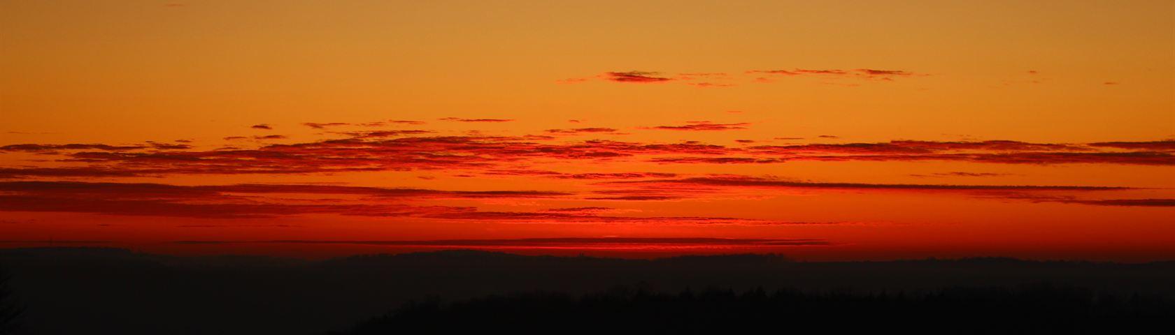 Orange Sun Over NY
