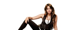 Miley Cyrus Wearing Vest