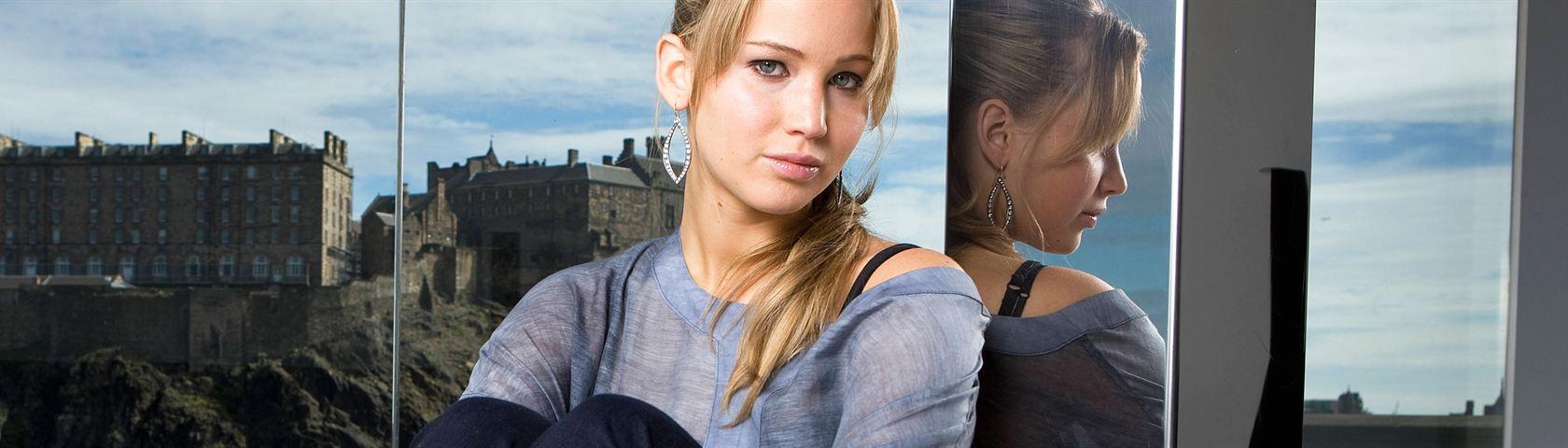 Jennifer Lawrence With Castle