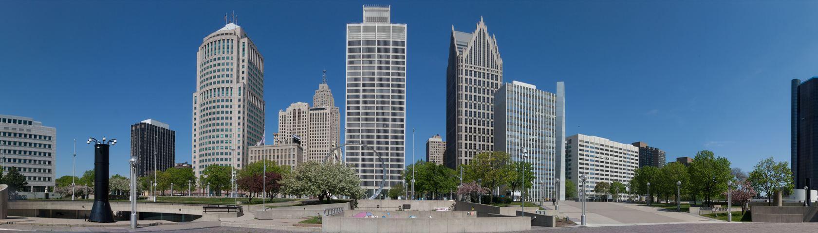 Hart Plaza, Downtown Detroit Michigan