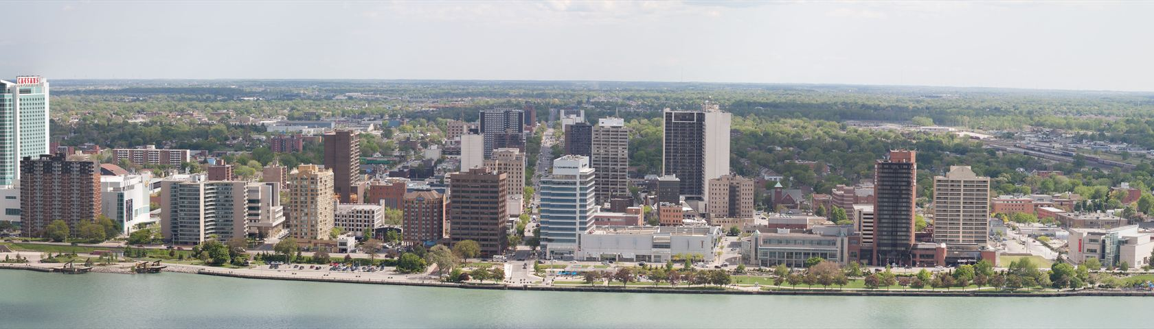 Aerial View of the Windsor Canada Shoreline