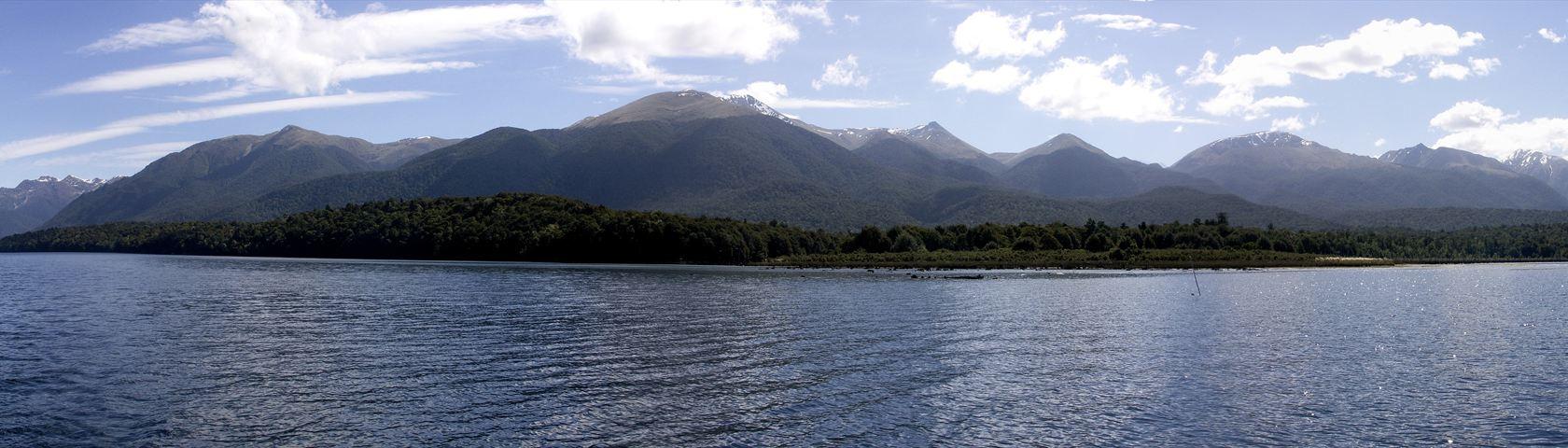 Sailing on Lake Monowai